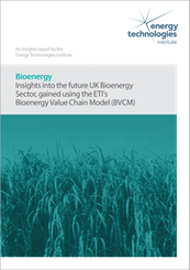 Bioenergy - Insights into the future UK Bioenergy sector, gained using the ETI's Bioenergy Value Chain Model (BVCM)