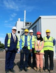 West Bromwich MP Adrian Bailey visits the UK's first municipal waste gasification plant as it achieves capability to supply energy to the grid, for the first time
