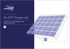 An ETI Perspective - Can you base a UK transition to low carbon on solar PV?