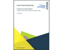 Power Plant Siting Study Summary Report and Peer Review Letters