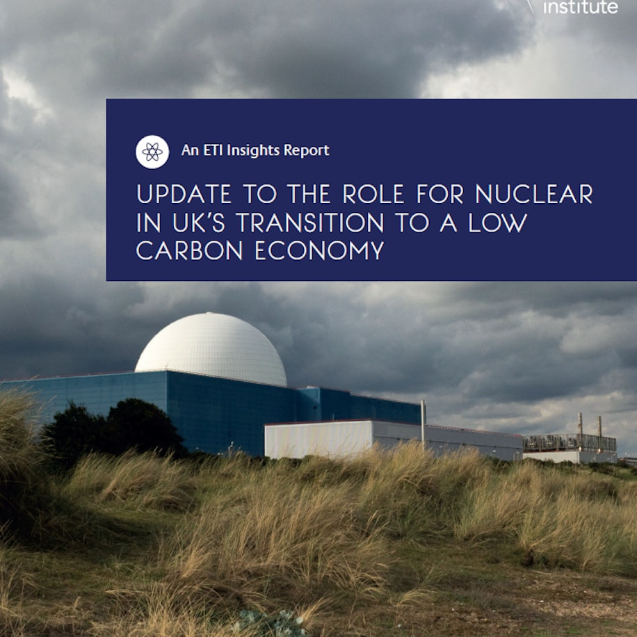 Update to The Role For Nuclear In UK's Transition to a Low Carbon Economy